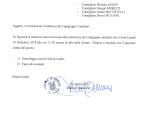 Convocazione Conferenza Capigruppo Consiliari