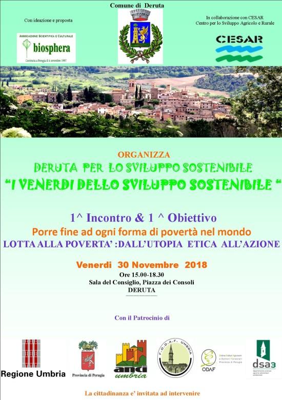 Conferenza sviluppo sostenibile 30 novembre 2018